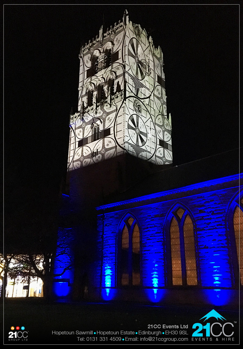 building projection by 21CC Events Ltd