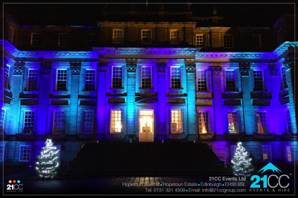 hopetoun house lighting by 21CC Events