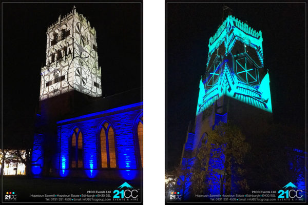 building projection company edinburgh by 21CC Events Ltd