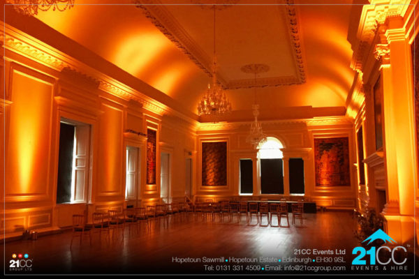 indoor lighting effects edinburgh by 21CC Events Ltd