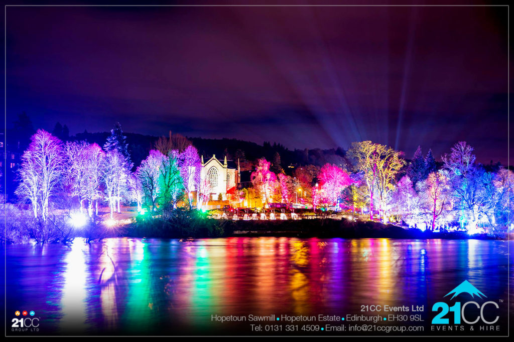 Riverside lighting by 21CC Events Ltd