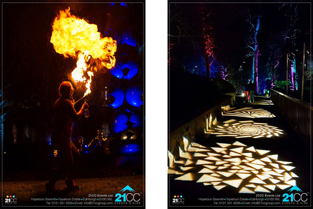fire lighting by 21CC Events Ltd