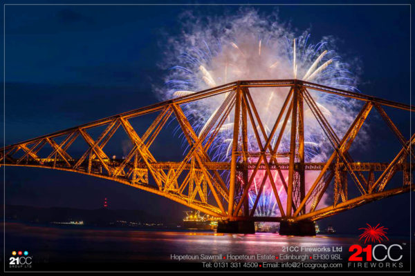 Forth Rail Bridge Fireworks