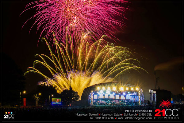 BBC proms fireworks by 21CC Fireworks Ltd