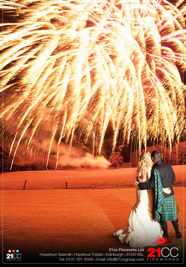 Wedding Fireworks Scotland by 21CC Fireworks Ltd