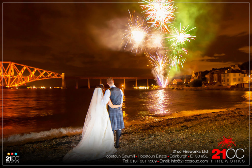 wedding fireworks display by 21CC Fireworks