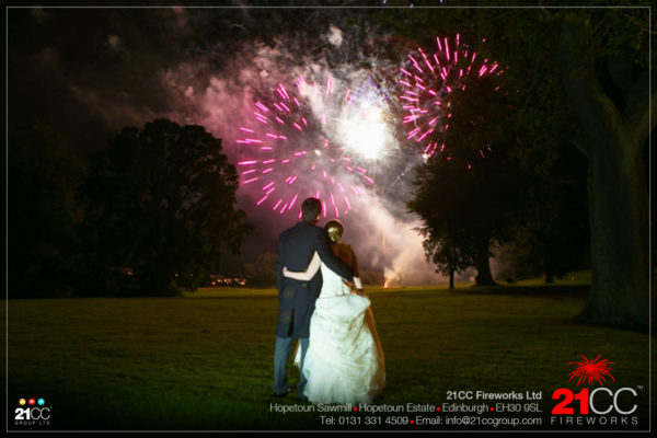 Wedding Fireworks In Scotland