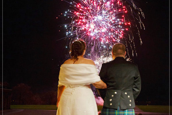 wedding fireworks scotland by 21cc fireworks