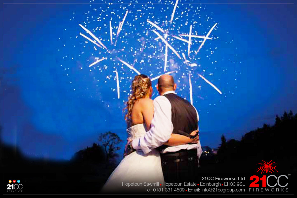 fireworks for weddings scotland by 21CC Fireworks ltd