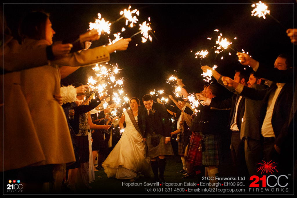 wedding sparklers by 21CC Fireworks Ltd