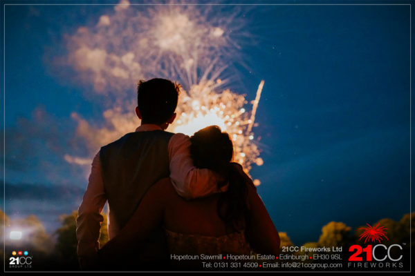 wedding fireworks Edinburgh by 21CC Fireworks ltd