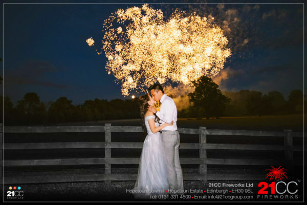 wedding fireworks glasgow by 21CC Fireworks ltd