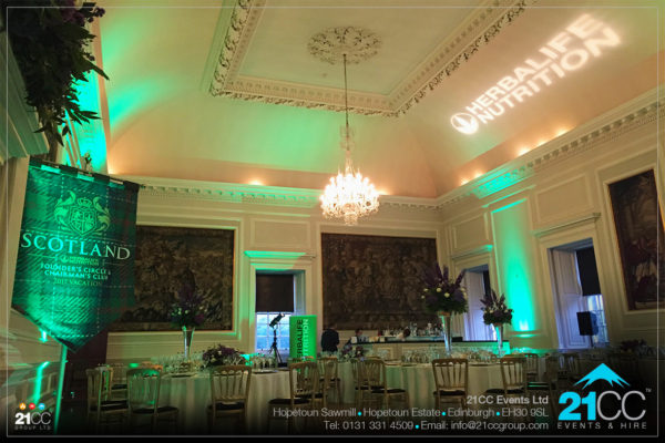 lighting at hopetoun house by 21CC Events Ltd