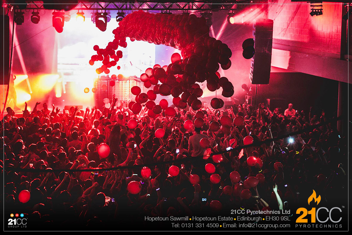 balloon drop by 21CC Pyrotechnics
