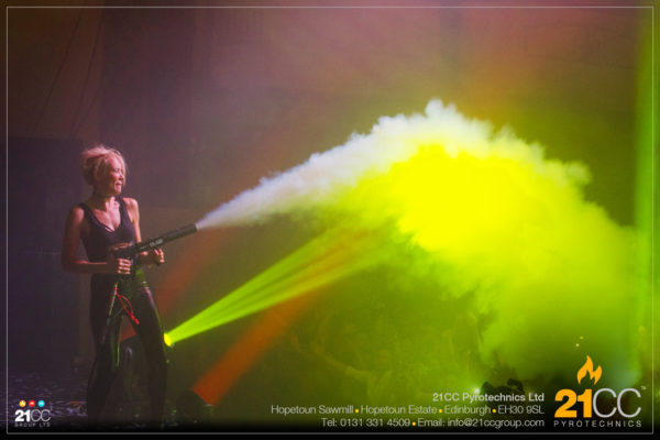 CO2 gun for hire by 21CC Pyrotechnics Ltd