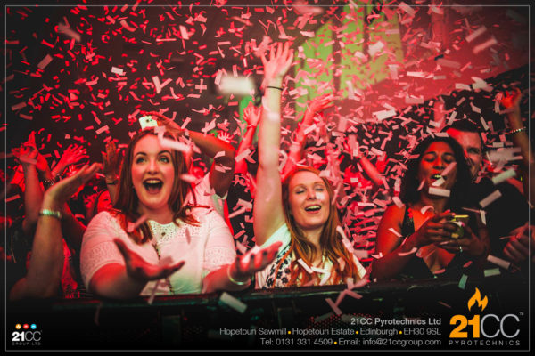 confetti super blaster glasgow by 21CC Pyrotechnics Ltd