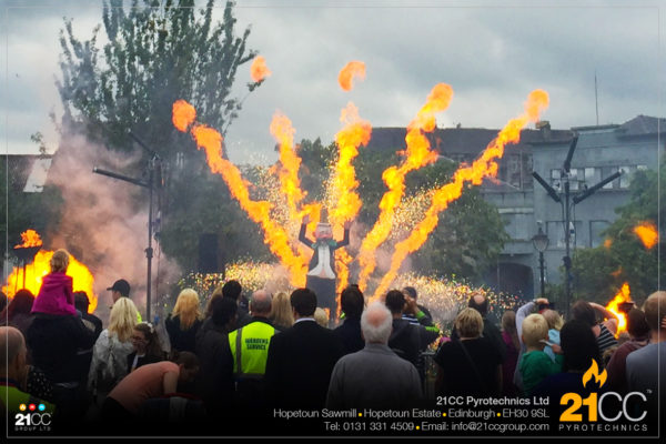 flame effects in scotland by 21CC pyrotechnics