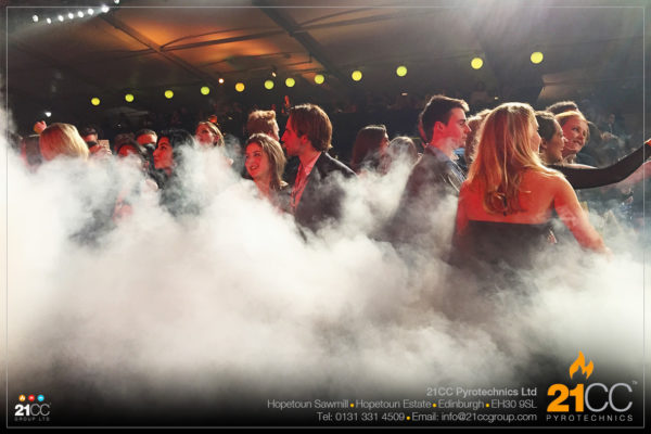 dry ice effect glasgow by 21cc pyrotechnics