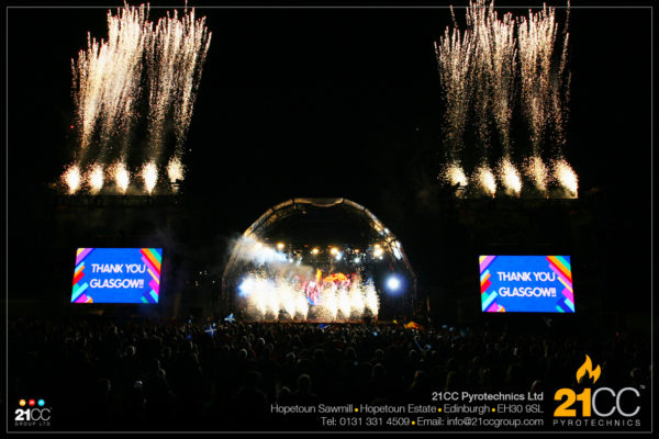 public event pyrotechnics scotland by 21cc pyrotechnics