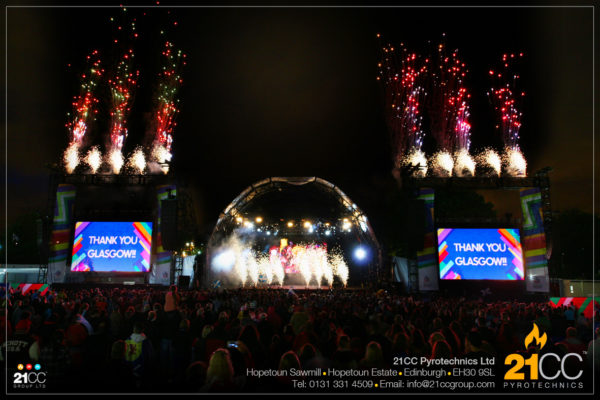 stage pyrotechnics scotland by 21cc pyrotechnics