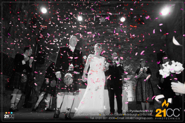 confetti for weddings, scotland by 21CC Pyrotechnics Ltd