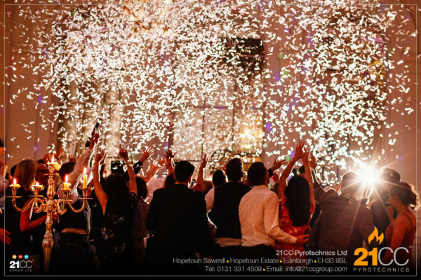 wedding confetti effects scotland by 21CC Pyrotechnics Ltd