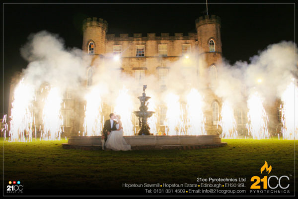 wedding fountains by 21cc pyrotechnics ltd