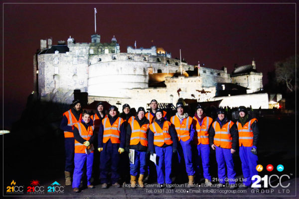 21CC Group Staff at edinburgh castle