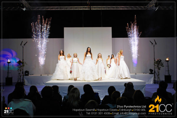 fashion show pyrotechnics edinburgh by 21cc pyrotechnics