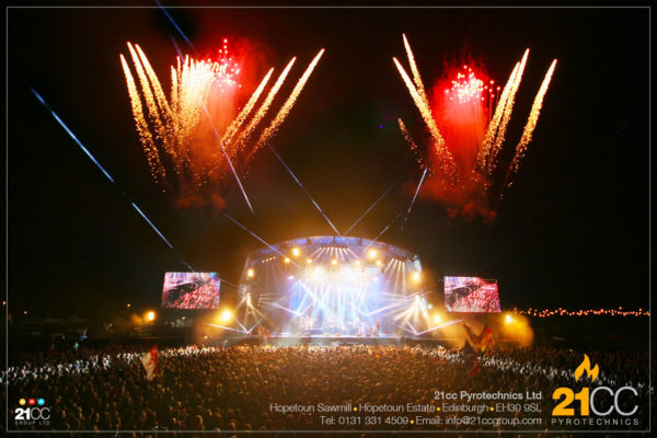 Stage pyrotechnics for Rihanna & Runrig