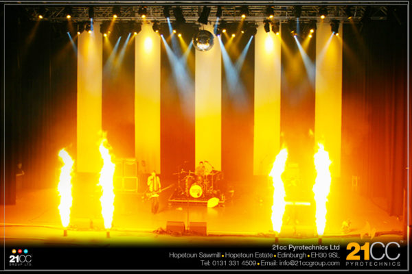 21cc Pyrotechstage flame for hire scotland by 21cc pyrotechnicsnics for Stadiums and Concerts