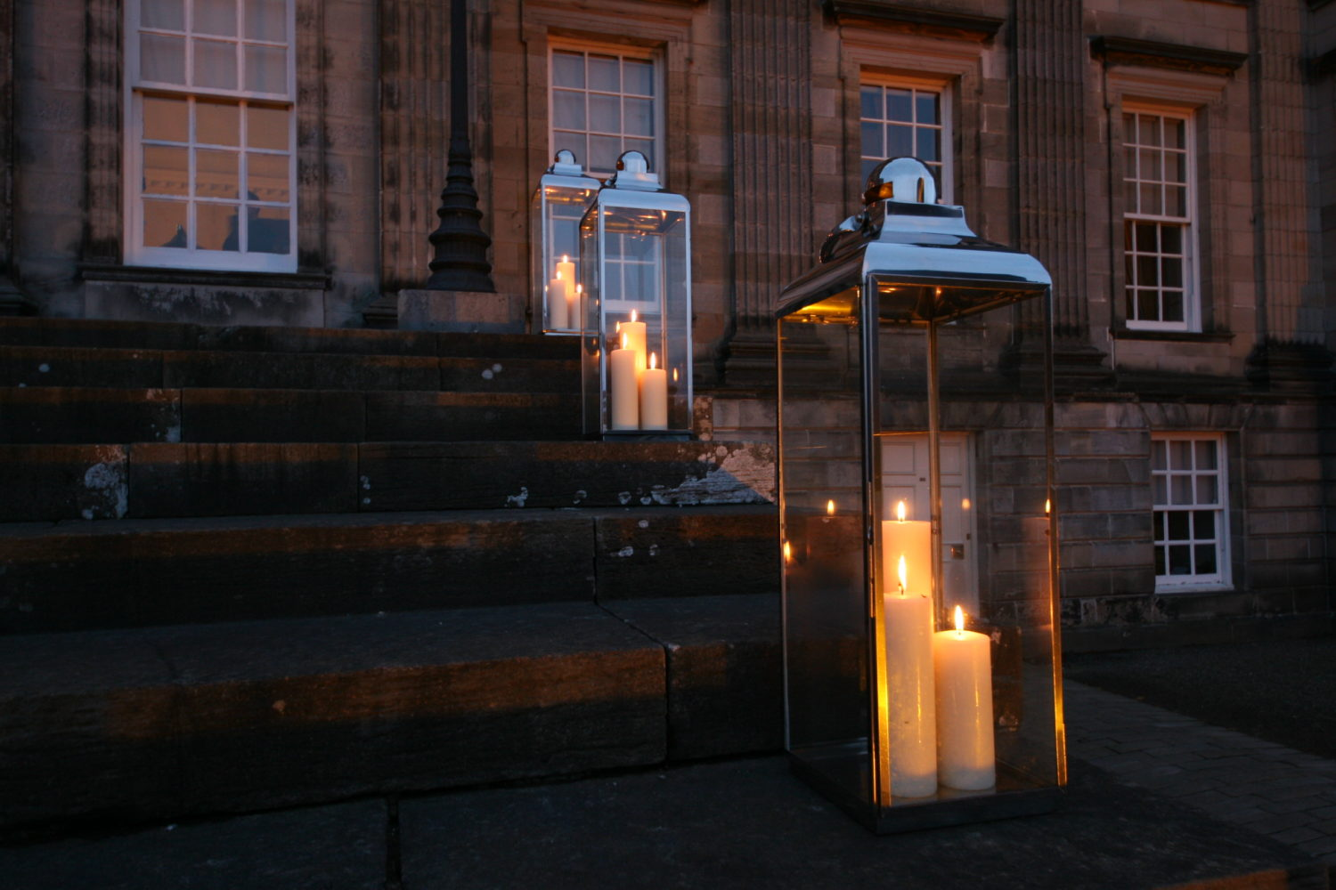 21cc events candle lanterns hire