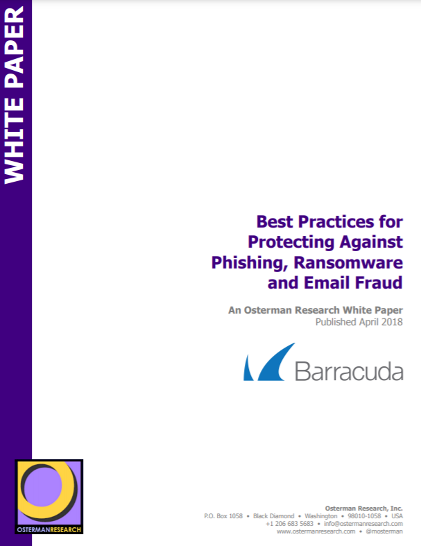 Barracuda Best Practices for Protecting Against Phishing Ransomware and Email Fraud