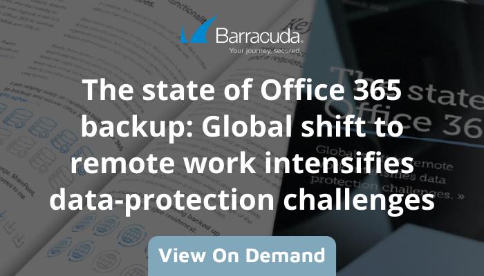 Barracuda O365 backup webinar