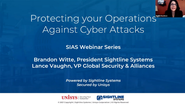 Protecting your Operations Against Cyber Attacks SIAS Webinar Series