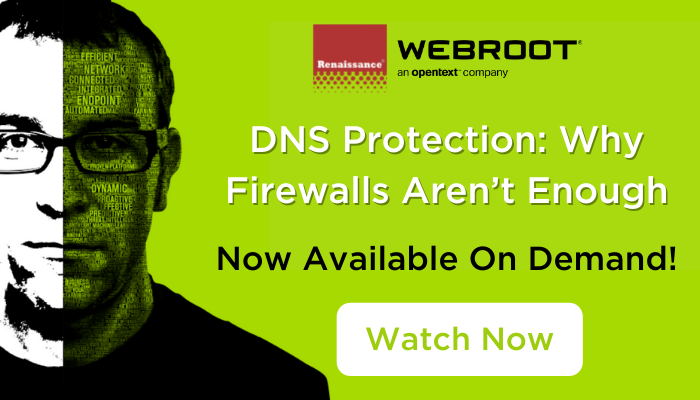 Webroot DNS Protection Why Firewalls Aren't Enough Now Available On Demand