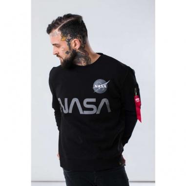 NASA REFLECTIVE SWEATER 03 BLACK