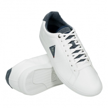 "Le Coq Sportif Courtcraft S Lea/2 Tones ""Optical White"""