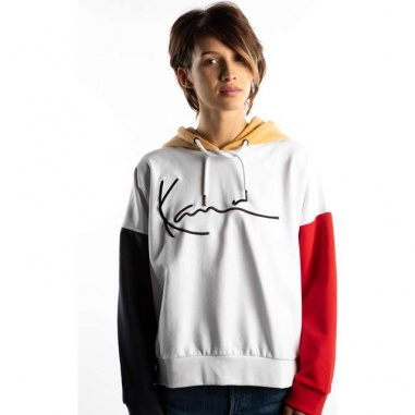 SIGNATURE BLOCK HOODIE 860 WHITE BLUE RED CAMEL