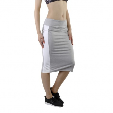 Puma Archive Logo Pencil Skirt Light Gray Heather