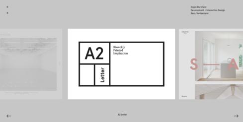 Voorbeeld van een website in neutrale kleuren