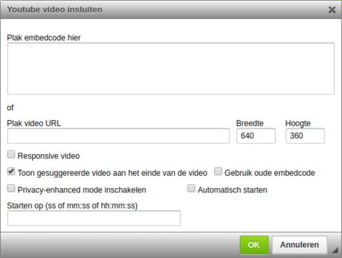 youtube video insluiten