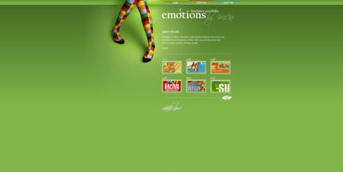 Voorbeeld van een groene website