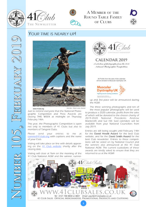 41 Club Newsletter cover