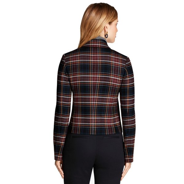 Plaid double face wool blend jacket 2
