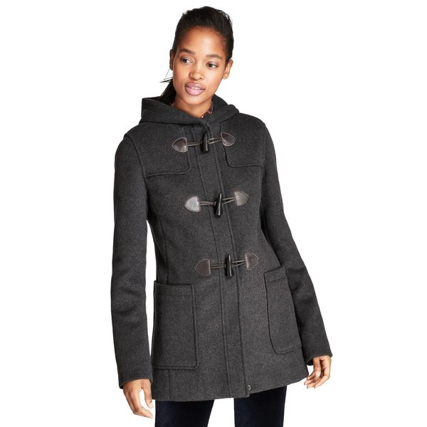 Double faced wool blend duffle montgomery coat
