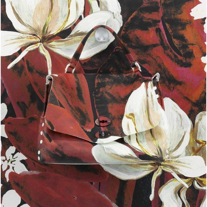 Postina l bag pelle toro mariposa rojo