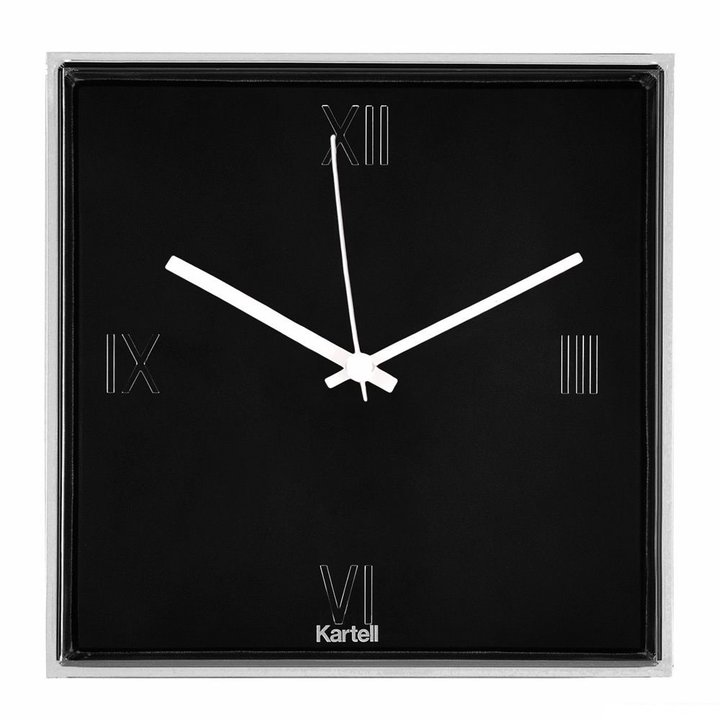 Tic tac orologio kartell in nero