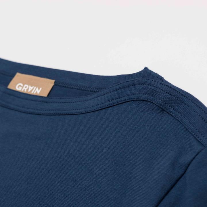 Grain tshirt doha cotone blu 3