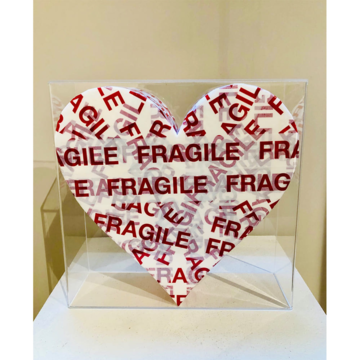 Bixio braghieri  cuore fragile  2020  tecnica mista   35 x 35 cm  euro 1.200
